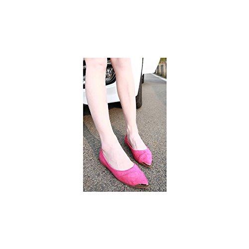 de OCHENTA gran baja de Calzados la Rosa zapatos metal talla de planos informales Rojo boca rrCwvq