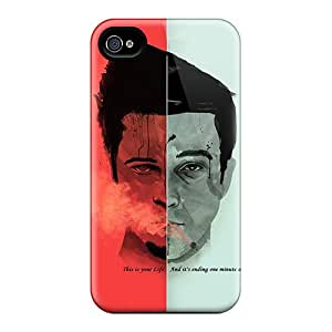 Apple Iphone 4/4s PmV6651YmlM Customized Vivid Fight Club Tyler Durden Image Scratch Protection Hard Phone Cover -TraciCheung