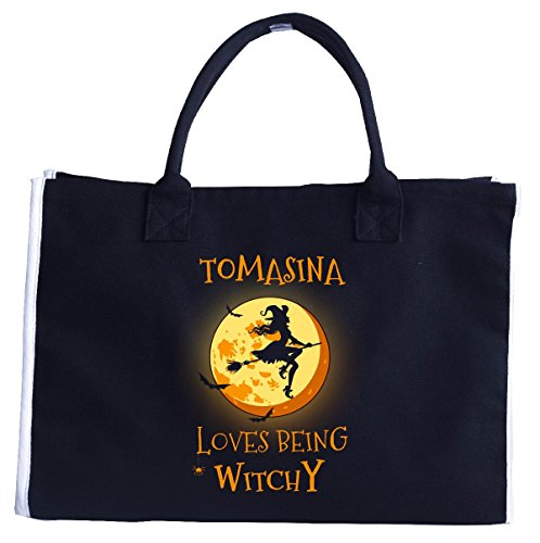 Tomasina Loves Being Witchy. Halloween Gift - Tote (Tomasina Halloween)