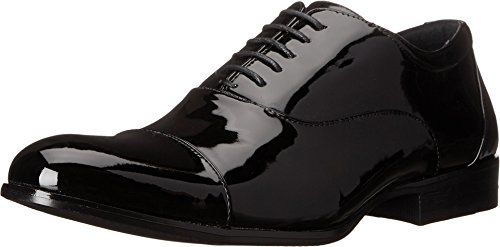 STACY ADAMS Men's Gala Cap Toe Oxford Black Patent 8.5 EE US