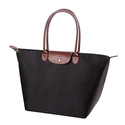 NANJUN Women's Waterproof Handbag Foldable Tote Shoulder Bag