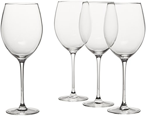 Glass Lead Wine Crystal (Lenox L6099790-000 Tuscany Classics Grand Bordeaux Glasses, Clear)