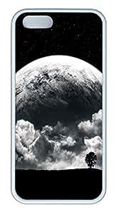 Sun Downhill 2 TPU Silicone Case Cover for iPhone 5/5S ¨C White