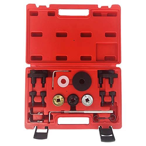 SUNROAD 16pc Engine Camshaft Locking Alignment Timing Tool Kit fit for Audi A3 A4 A5 A6 Q5 TT 2.0L EA888 SF0233 & Volkswagen VW Eos CC Tiguan Beetle GTI Jetta 2.0L 3.6L
