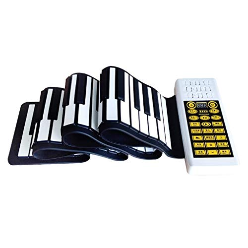DISS Roll Up Piano 88 Portable Piano A88 Key Flexible Soft Power Digital Roll Keyboard Built-in Loud Dual Speaker Can USB Charge AA Battery for Children Beginners,2019 Newest (Best Digital Keyboards 2019)