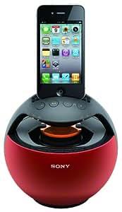 Sony RDPV20IPR - Altavoz para iPod/iPhone, color rojo