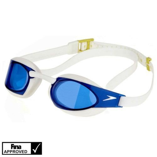 Speedo Fastskin Elite Mirror Goggles, White/blue, One Size