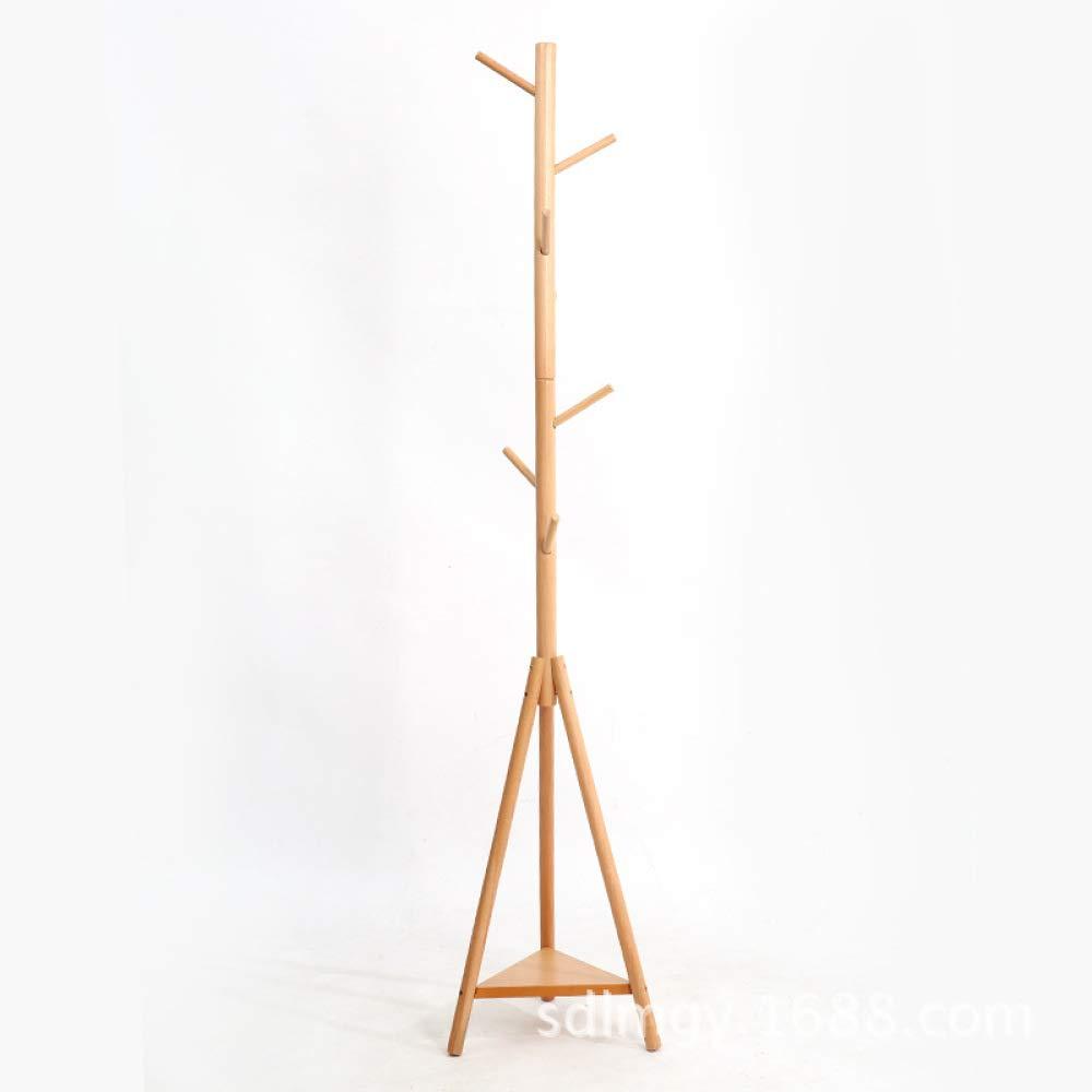 Yunfeng Clothes Racks Free Standing Standing Coat Rack Nordic Simple Solid Wood Coat Rack greenical Living Room Bedroom Hanger Decorative Furniture