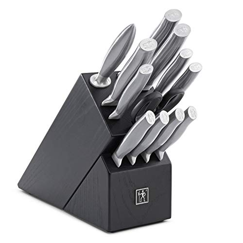 - Zwilling J.A. Henckels 13-Piece Knife Set | High-Carbon German Stainless Steel Cutlery Set with Block and Sharpener