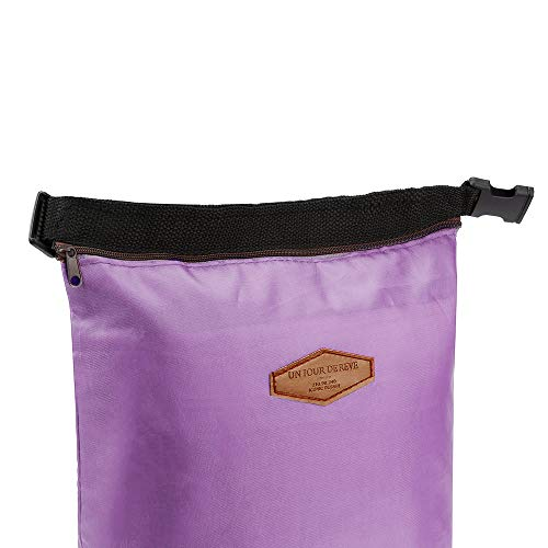 HighlifeS Lunch Bag Waterproof Thermal Fashion Cooler Insulated Lunch Box More Colors Portable Tote Storage Picnic Bags (Purple) by HighlifeS (Image #3)