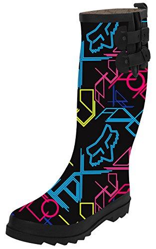 Ta Ta Frog Fox Racing Fashion Womens Top Solid Rain Knee High Boots Waterproof Tall Rainboots 40