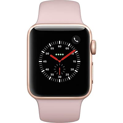 Apple Watch Series 3 38mm Smartwatch (GPS + Cellular, Gold Aluminum Case, Pink Sand Sport Band) (Certified Refurbished)