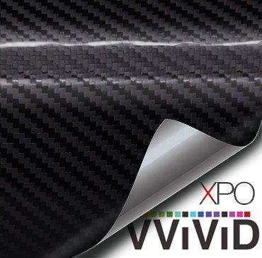 Diy Carbon Fiber (VViViD XPO Black Carbon Gloss Tech Art 3 layer 3D Realistic True Carbon Fiber Look Cast Vinyl Wrap (1ft x)
