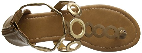 CASSIS COTE D'AZUR Women's Bloody Ankle Strap Sandals Brown (Cafe) YSEWTMI