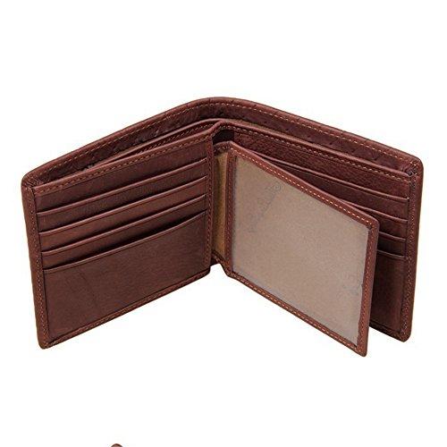 Porte Pour Cross Brun En Portefeuille Court Chocolate Wenzhihua Cuir monnaie Rouge couleur Hommes Homme Des Marron 4H0wq