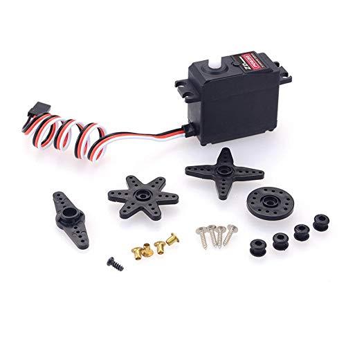 LLDWORK 1set ZD P0600 Analog servo, 6kg Futaba Plug, 42g Plastic Gear, Waterproof RC Model Parts, Black