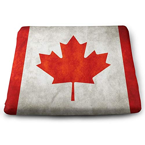 Excellent Support & Comfort Memory Foam Seat Cushion Soft Cool Cushion, Enhanced Office Chair Wheelchair Car Seat Cushion for Back Hip Pain Relief - Vintage Canada Red Maple Flag