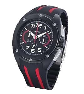 Time Force TF3132M14 - Reloj de caballero de cuarzo, correa de caucho color negro