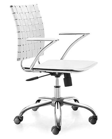 Zuo Modern Criss Cross Office Chair, White