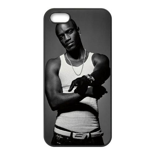 Akon coque iPhone 5 5S cellulaire cas coque de téléphone cas téléphone cellulaire noir couvercle EOKXLLNCD21436