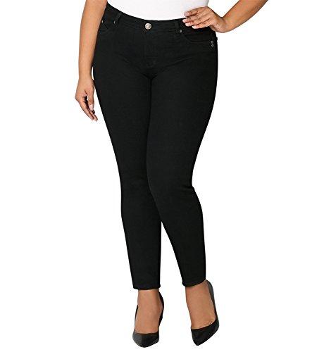 Sculpting Skinny Jean in Black, 18 Black (Avenue Skinny Jeans)