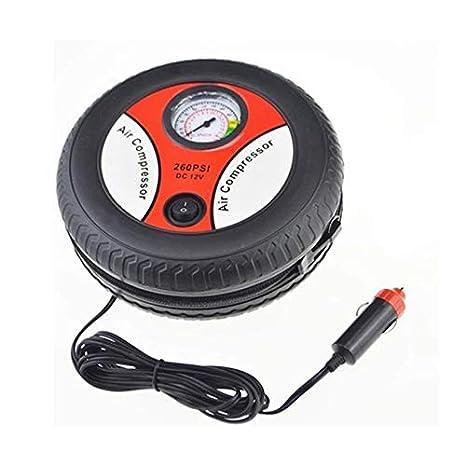 RoadRomao Bomba de inflado del neumático del Coche Compresor de Aire Mini neumático Diseño 12 V