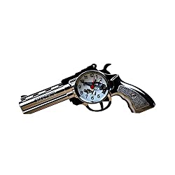 Desk Alarm Clock ROOVON Gun Model Desk Table and Shelf Decoration Clock as Gift for Kids and Military fans.