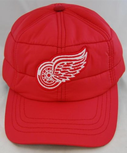 - NHL Hockey American Needle Detroit Red Wings Outdoorsman Red Cap Quilted With Corduroy Inside Lid