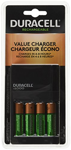 - Duracell Fastest Value Charger with 4 AA Batteries 1 Kit (CEF14DX)