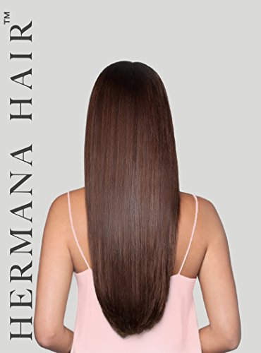 Hermana Hair Clip In Hair Extensions 100% Remy Human Hair Luxury Quality 20 inch Long Hair Extra Secure Clip Ins Add Instant Length & Volume to Your Hair (Mimi Mahogany (Khloe Kardashian Halloween Costumes)