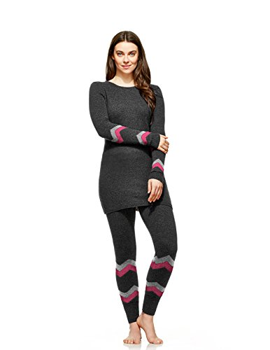 Hottotties Women's Plus Size Sweater Tunic, Mix Charcoal, 1X