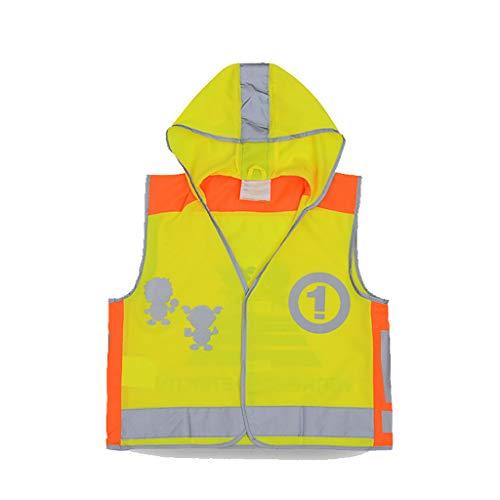 Chaleco Reflectante de Seguridad para niños Sombrero de Noche Correr Equitación Ropa Protectora Fluorescente Chaqueta de...