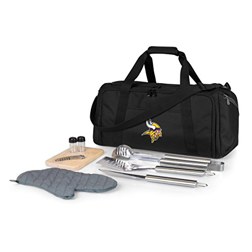 NFL Minnesota Vikings BBQ Kit/Cooler Tote with Barbecue and Picnic Accessories ()