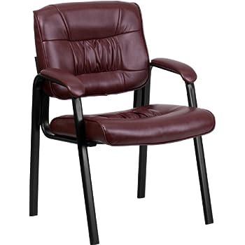 Amazon.com: Burgundy FabricComfortable Stackable Steel Side ...