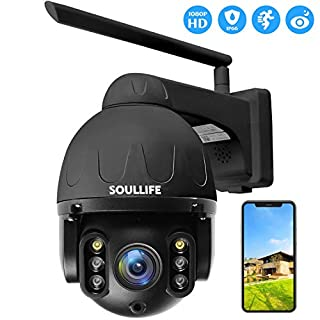 SoulLife Outdoor Security Camera, PTZ Camera Outdoor with Aluminum housing,1080P Pan Tilt Zoom WiFi Camera, Surveillance IP Waterproof Camera with Two Way Audio Color Night Vision Motion Detective