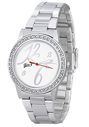 Gen y Analog Silver White Watch for Girls and Women  GY 024