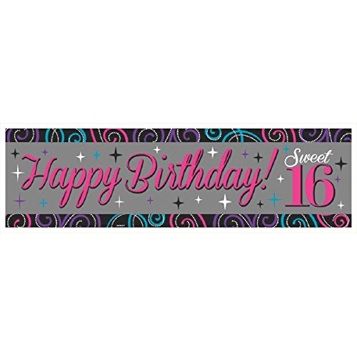 Plastic Giant Sign Banner | Sweet Sixteen Collection | Birthday]()