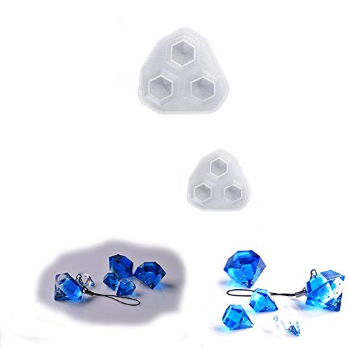 Fabrication de Bijoux Cire de Bougie Savon Fait Maison Moule en Plastique pour Bombe de Bain en Plastique Zeagro 2 x Moule en Silicone pour r/ésine /époxy