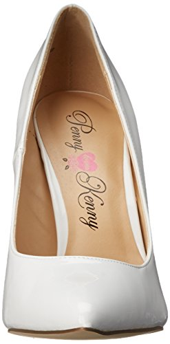 Loves White Kenny Patent Opus Pump Women's Dress Penny 4dTqywv4