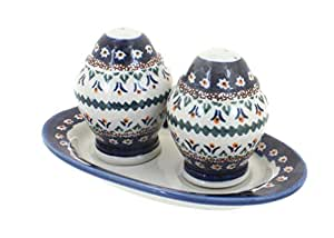 Polish Pottery Daisy Salt & Pepper Shakers