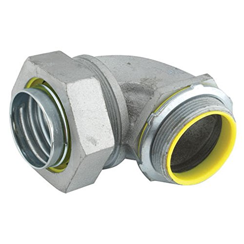Hubbell-Raco 3541RAC Liquid Tight Connector, Steel, 90 Degree, Insulated, 3/8'' (Pack of 25)
