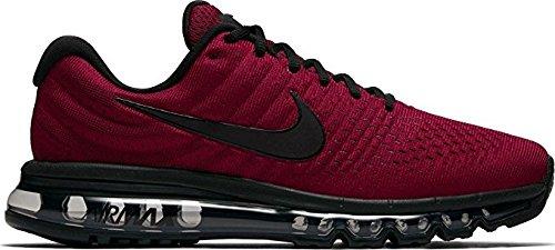 arrives los angeles buy best NIKE Mens Air Max 2017 Running Shoes (10.5 M US, Team Red/Black-Dark Grey)