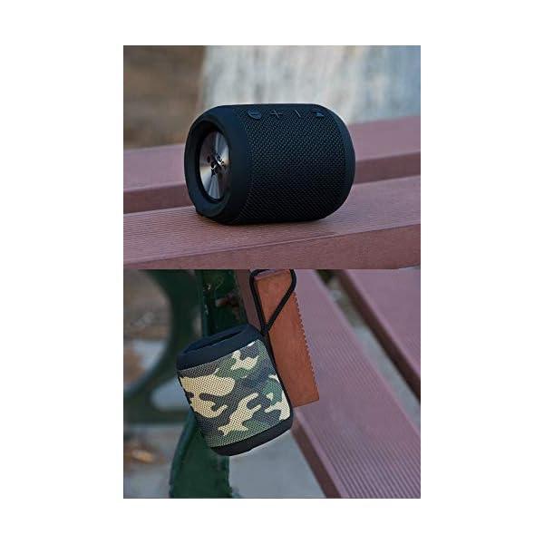 Haut-Parleur sans Fil Bluetooth, Mini Caisson de Basses Puissant et Portable, Bluetooth 4.2, pour l'extérieur, Le Sport, la Famille, Les Voyages et Les fêtes. 4