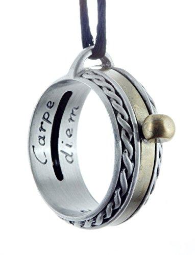 NEW Sundial Pendant -Celtic- Aquitaine - Brass & Pewter, Black Cord,