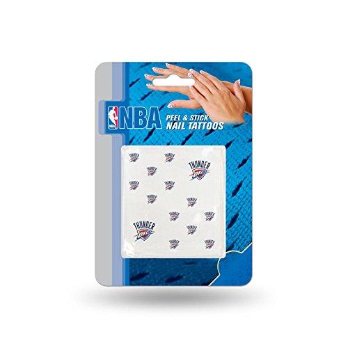Peel Oklahoma - Official NBA Temporary Nail Tattoos (Oklahoma City Thunder) Peel and Stick Tattoos.