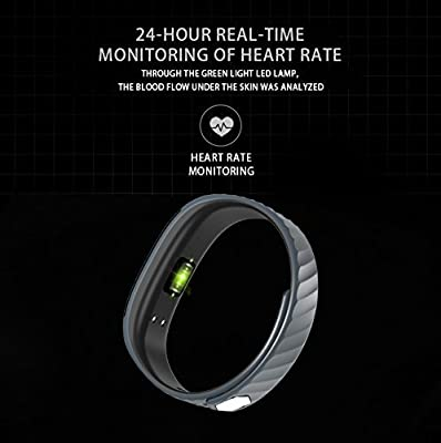 Fitness Tracker ID115 Plus HR Fitness Watch Heart Rate Monitor Activity Tracker Waterproof Bluetooth Smart Watch Wireless Smart Bracelet Sleep Monitor Pedometer Wristband for Android and iOS