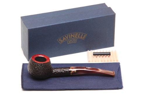 Savinelli Roma Rustic 315 KS Lucite Stem Tobacco Pipe ()