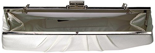 Blaire Satin Framed Clutch Evening Bag, Ivory, One Size by Jessica McClintock (Image #5)