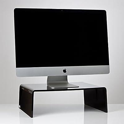 Alta calidad brillante negro acrílico TV/Monitor/portátil/soporte para pantalla LCD pantalla de ordenador Riser zócalo puente (varios tamaños), color negro 600mm x 400mm x 100mm: Amazon.es: Oficina y papelería