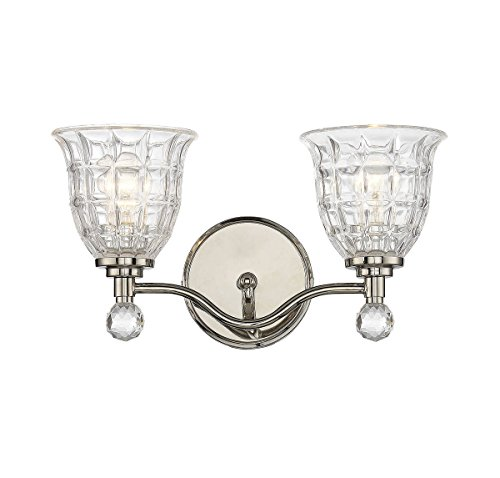 - Savoy House Birone 2-Light Vanity Bar in Polished Nickel 8-880-2-109